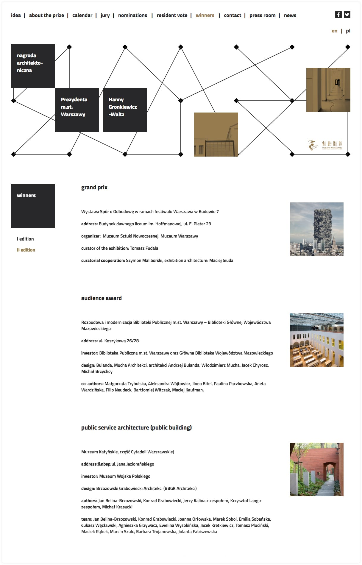Architectural competition website - by Webchefs