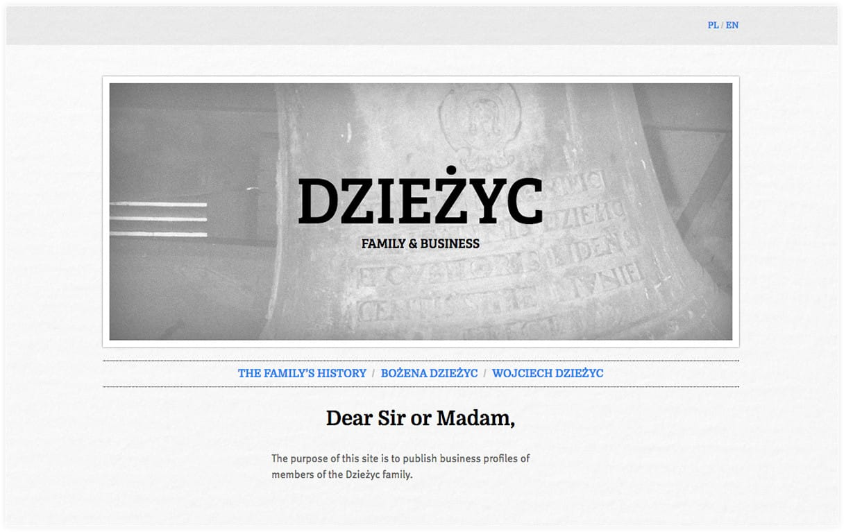 Responsive Front-End Developers for Dzieżyc family - Webchefs