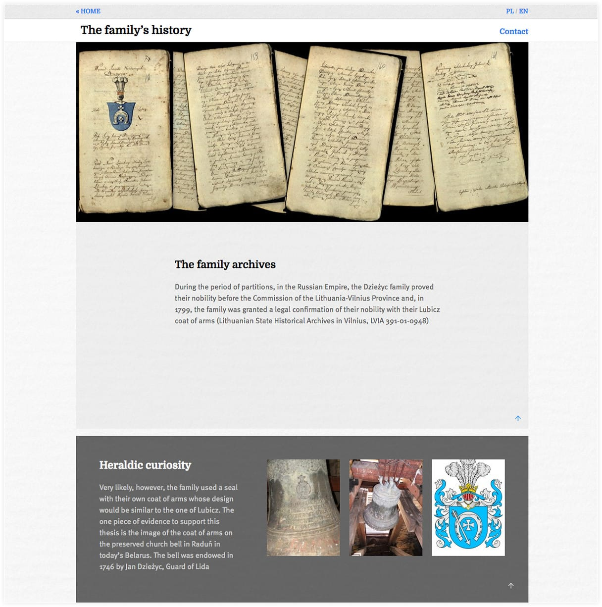 Genealogical website created by Webchefs