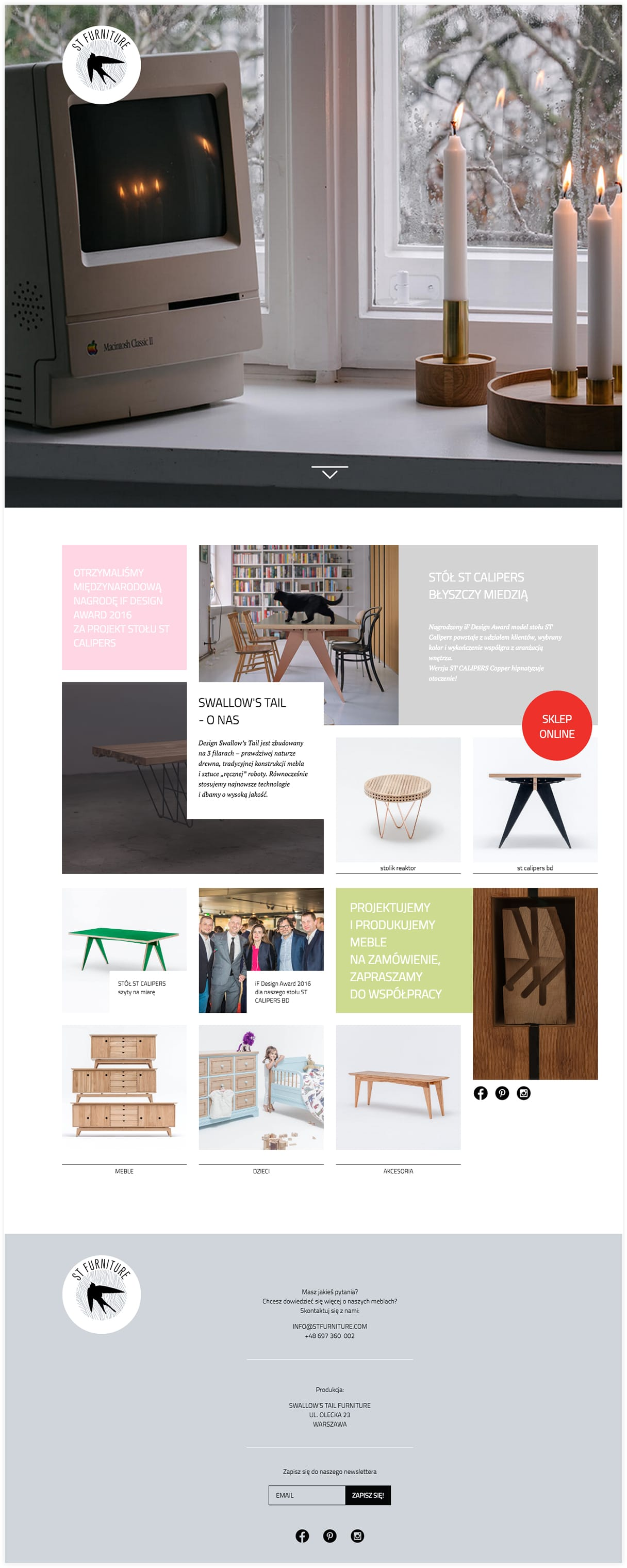 Responsive Front-End Developers for Swallow's Tail Furniture - Webchefs